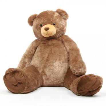 65in Life Size Sweetie Tubs Mocha Teddy Bear
