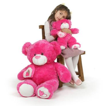 30in Hot Pink ChaCha Big Love Teddy Bear