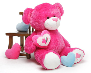 4ft Hot Pink Teddy Bear ChaCha Big Love