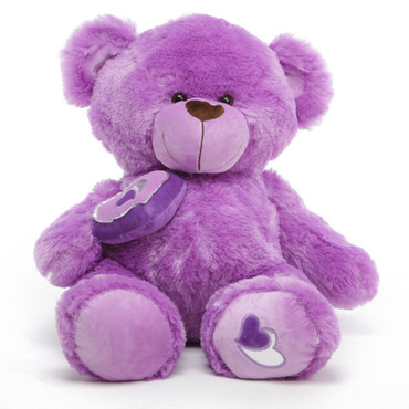 3ft Purple Big Love Sewsie Teddy Bear