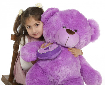 36in Sewsie Big Love lavender teddy bear