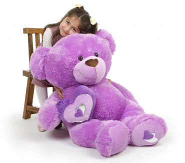 Sewsie Big Love Extra Large Irresistible Lavender Teddy Bear 42 in