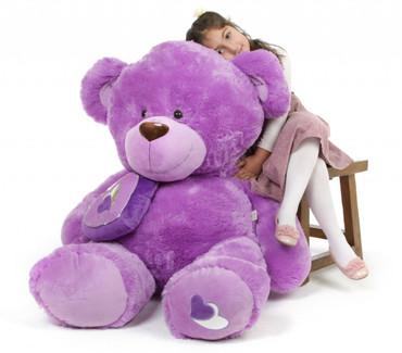 Sewsie Big Love Huge Huggable Lavender Teddy Bear 47 in