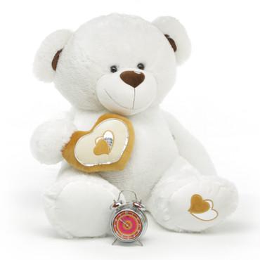 4ft Chomps Big Love White Extra Large Huggable Teddy Bear