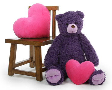 Purple 32in Violet Wolly Tubs Teddy Bear
