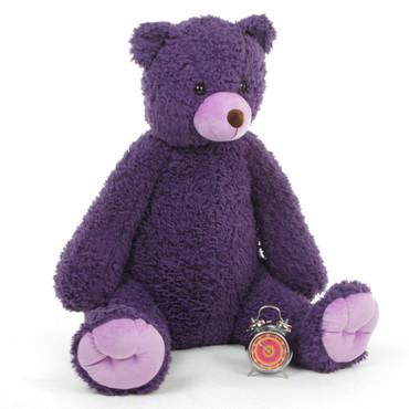 42in Purple Teddy Bear Violet Woolly Tubs
