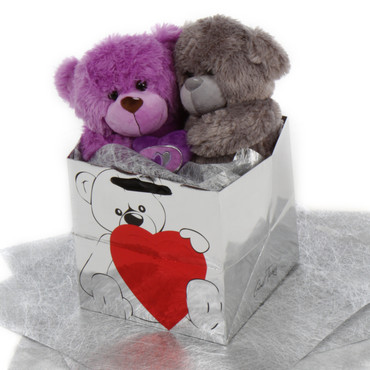 Ultimate Soulmates Big Love Bear Purple and Silver Teddy Bear
