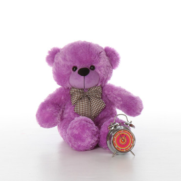 Purple Plush Teddy Bear 24 inch  DeeDee Cuddles