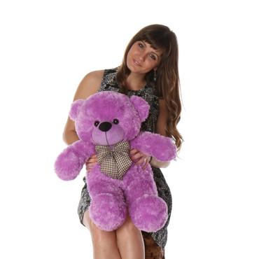 2 feet  Adorable Purple Teddy Bear
