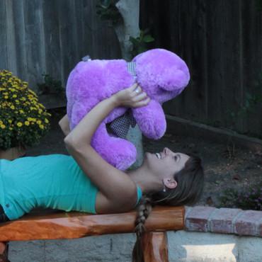 2 feet Big Lavender Teddy Bear