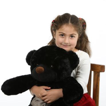 24 inch soft and Huggable  Black Teddy Bear