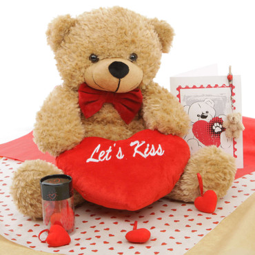 He Loves Me! Bear Hug Care Package featuring Shaggy Cuddles Amber 18in