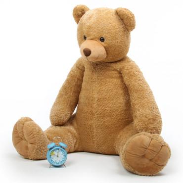 Honey Tubs plush amber brown jumbo teddy bear 52in