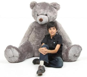 Life Size Sugar Tubs Extra Large Grey Cuddly Plush Teddy Bear 70in