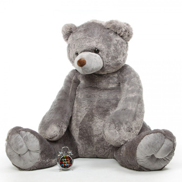 Extra Large Grey Cuddly Plush Teddy Bear 70in Sugar Tubs