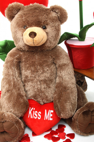 48in Jumbo Mocha Brown Teddy Bear Sweetie Tubs