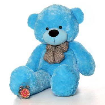 60in Happy Cuddles Blue Teddy Bear