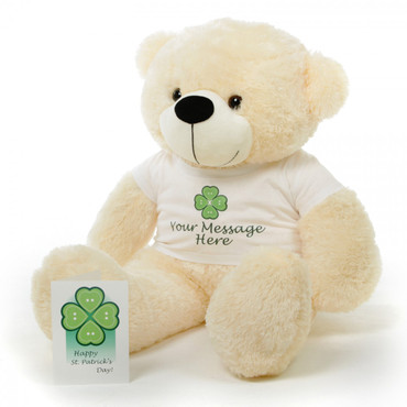 38in Cozy P. Cuddles Personalized St. Patricks Day Teddy Bear