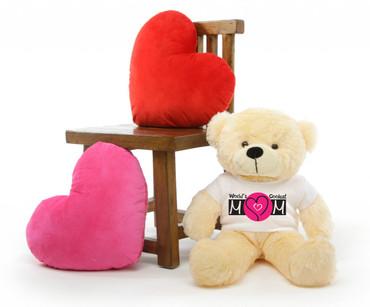 Cozy M Cuddles Vanilla Mothers Day Teddy Bear Gift 30in