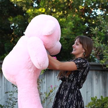 Lady Cuddles Super Soft Huggable Pink Teddy Bear 46in