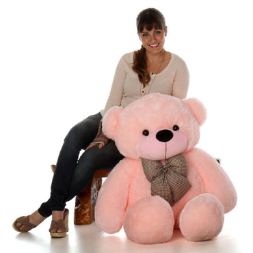Lady Cuddles Super Soft Huggable Pink Teddy Bear