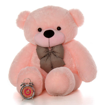 46in Lady Cuddles Soft Huggable Pink Teddy Bear
