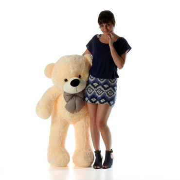 Super Soft Cozy Cuddles 48 inch Cream Teddy Bear
