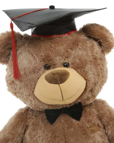 37 Inch Big Brown Shags Teddy Bear in Sitting Position - Graduation Gift