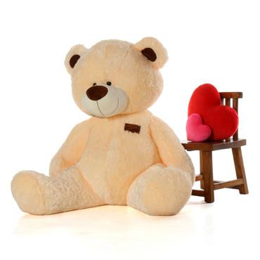 6ft High Quality Bear BooBoo Shags Cream Teddy Bear