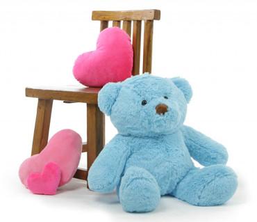 2ft Sky Blue Teddy Bear Sammy Chubs