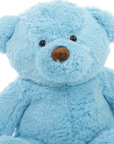 30in Sammy Chubs Blue Teddy Bear