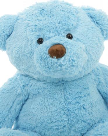 30in Sammy Chubs Blue Teddy Bear