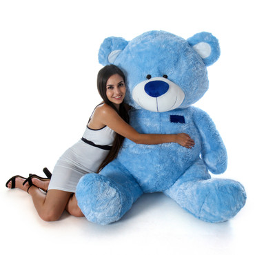 Blue Giant Teddy Bear in Sitting Position