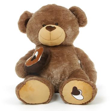 Adorable Brown Teddy Bear with Heart