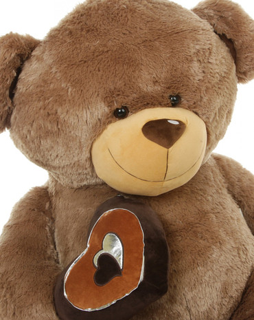 Soft brown valentine teddy bears by Giant Teddy
