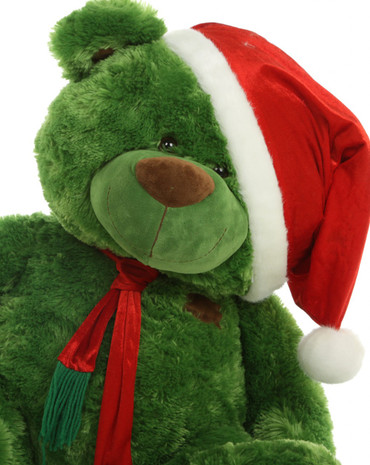 30 in Green Holiday plush Teddy Bear