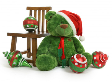 30 in Green Christmas Plush Teddy bear