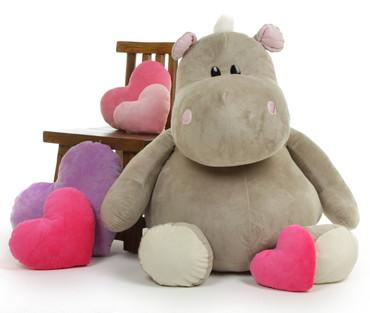 Huge Hippo Stuffed Animal by Giant Teddy