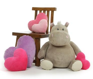 Adorable Big Stuffed Animal Hippo