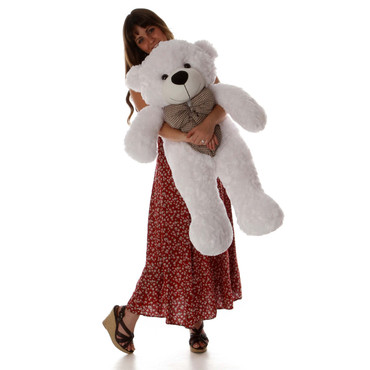 38in Best gift White Teddy Bear huggable and soft Coco Cuddles