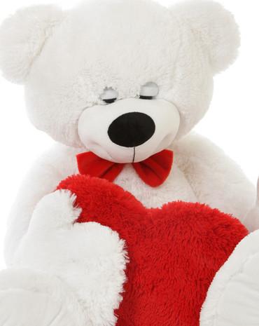 Soft White Super cute Sleepy Teddy Bear