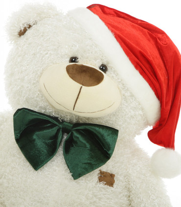 35 Inch White Adorable Shags Teddy Bear for Christmas Present