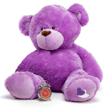 Purple is the new Pink, send a Lovely Purple Valentine's Teddy Bear today!