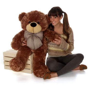 Huge Cute 38in Sunny Cuddles Mocha Brown Teddy Bear