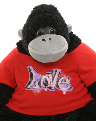 Valentine's Day Stuffed Animal Gorilla with Love T-shirt