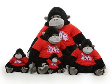 Big Stuffed Gorillas Family