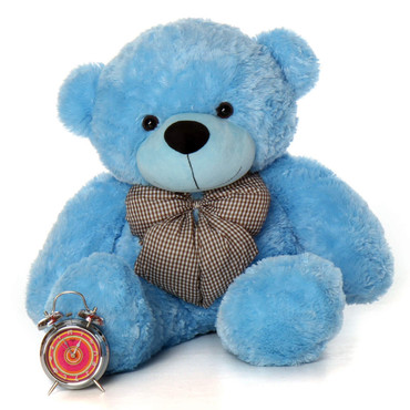 3ft Huge Blue Teddy Bear Happy Cuddles