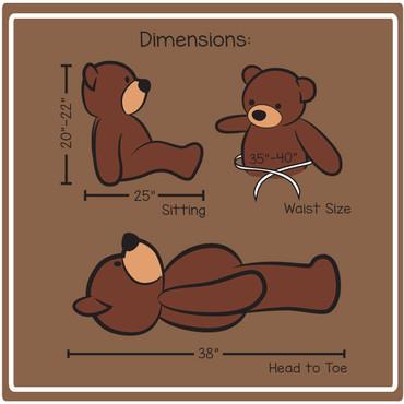 38in cuddles dimensions
