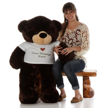 Big Teddy Bear Hugs from Brownie Cuddles, A 48 inch Personalized Giant Teddy Bear!