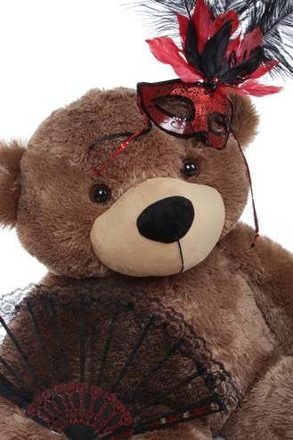 3 ft Brown Masquerade Teddy Bear